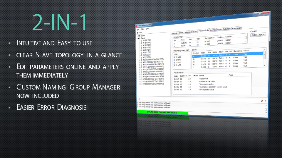 Network Configurator 2 in 1, highlights